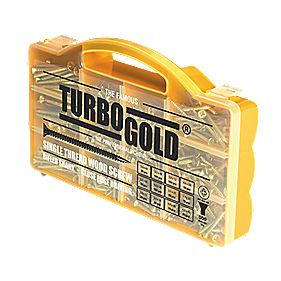 TurboGold Woodscrews Handy Pack Double Self-Countersunk Pack of 750