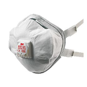3M 8835 Cup-Valved Dust Respirators FFP3 Pack of 5