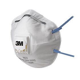 3M Cup-Valved Dust/Mist Respirators FFP2 Pack of 5