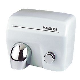 Manrose Push-Button Hand Dryer White 2.4kW