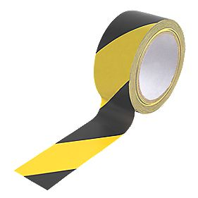 No Nonsense Hazard Tape Black & Yellow 50mm x 33m