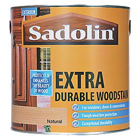 Sadolin Extra Durable Woodstain Natural 2.5Ltr