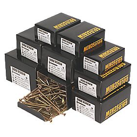 Goldscrew Plus Trade Pack Zinc & Yellow-Passivated 1400 Pieces