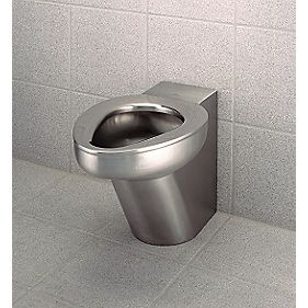 Back-to-Wall Toilet Pan Stainless Steel
