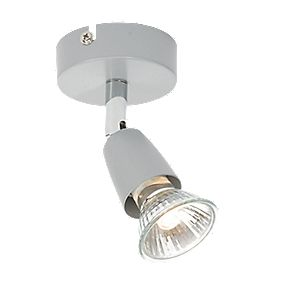 Zinc Ceiling Spotlight Silver Effect 50W