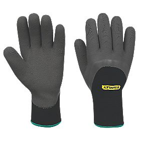 Stanley General Handling Winter Dipped Gripper Gloves Grey Large