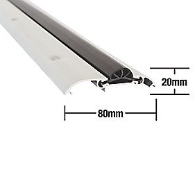 Compression Draught Excluder Aluminium 1828mm