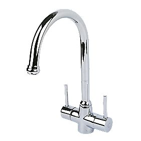 Swirl Fresco Mono Mixer Kitchen Tap Chrome