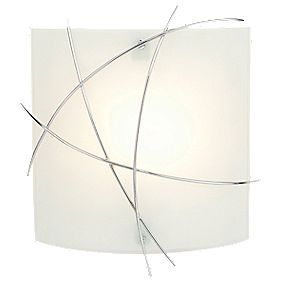 Largo Bathroom Wall Light Chrome Effect & Matt Glass 40W