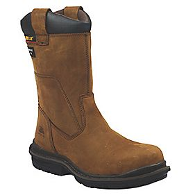 CAT HOLTON S3 SAFETY RIGGER BOOT BROWN SIZE 8
