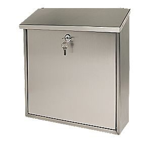 Sterling Rectangular Post Box Stainless Steel