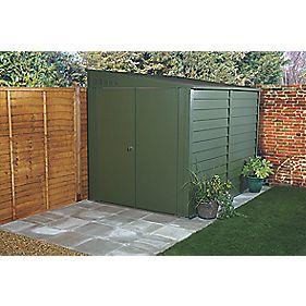 Trimetals Titan 940 Double Door Pent Shed Metal 4' 9 x 9' 2 x 2100mm