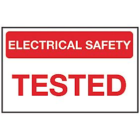 """Electrical Safety Tested"" Labels 25 x 40mm Roll of 250"