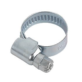 Easyfix Blue Zinc-Plated Hose Clips 12-20mm Pack of 10
