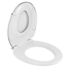 Celmac Soft-Close Toilet Seat Polypropylene White