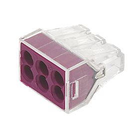 6-Way Push-Wire Connector 773 Series Pack of 50