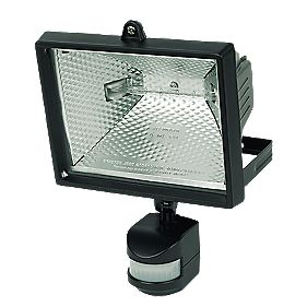 Floodlight 400W Black PIR Photocell 8550Lm