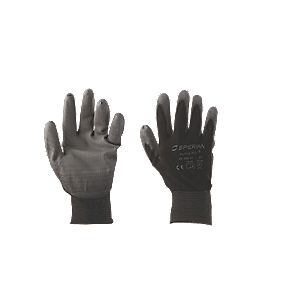 Perfect Fit Secure Handling Poly Gloves Black Large