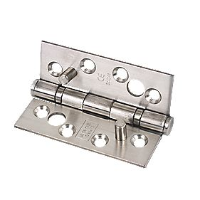 Security Hinge Grade 13 Satin Stainless Steel 102 x 76mm Pack of 2