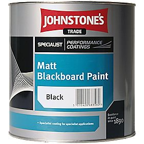 Johnstones Quick Drying Blackboard Paint Black 1Ltr