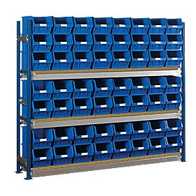 Toprax Longspan Starter Bay w/ 56 x TC5 Blue Containers 1812 x 328 x 1500mm