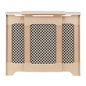 MDF Adjustable Radiator Cabinet Unfinished 975-1425 x 220 x 918mm