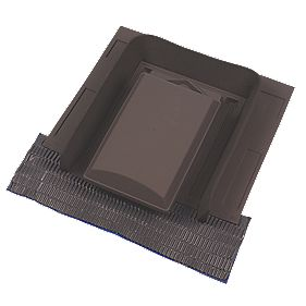 Glidevale Versa-Tile Vent Brown 110mm