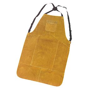 Portwest Cowhide Leather Welding Apron Orange One Size Fits All