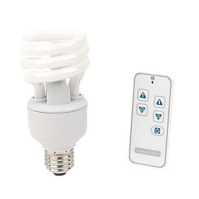 LightwaveRF Dimmable 20W Spiral CFL ES with Li-Ion Powered Remote Control