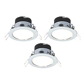 LAP Fixed Downlight Kit 320Lm Polished Chrome 4.5W 240V Pack of 3