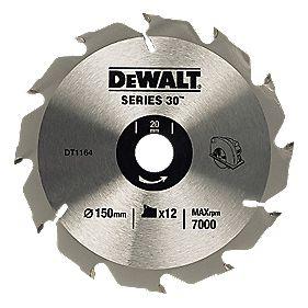 DeWalt 150x20mm 12T TCT Circular Saw Blade
