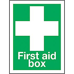 """First Aid Box"" Sign 200 x 150mm"