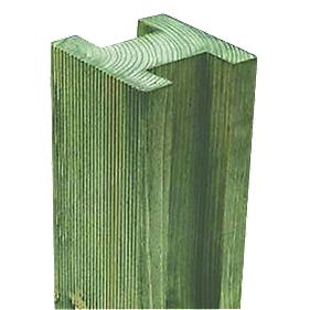 Forest Larchlap Reeded Fence Posts 94 x 94mm x 2.4m Pack of 10