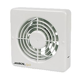 Manrose Gold Long Life Axial 20W Bathroom Extractor Fan