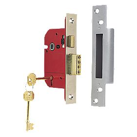 "ERA 5-Lever Mortice Sashlock Satin Nickel "" / 64mm"
