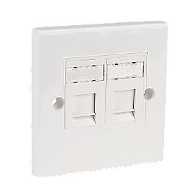 TWIN KEYSTONE JACK FACEPLATE