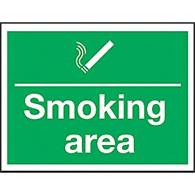 """Smoking Area"" Sign 300 x 400mm"