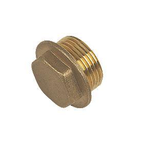 "Brass Flanged Plug ¾"""