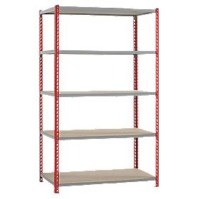 Just Shelving 1980 x 1200 x 450mm 5 Shelves