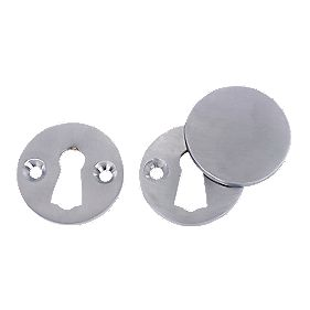 Escutcheon Set Satin Chrome 38mm