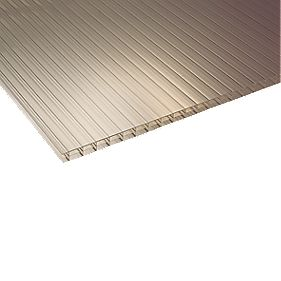 Corotherm Triplewall Polycarbonate Sheet Bronze 980 x 2500mm