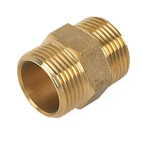 "Comap Brass Hexagon Nipple 1"" Pack of 2"