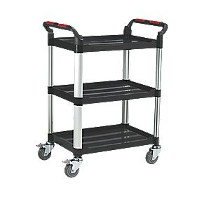 Premium 3-Shelf Trolley Aluminium / Plastic