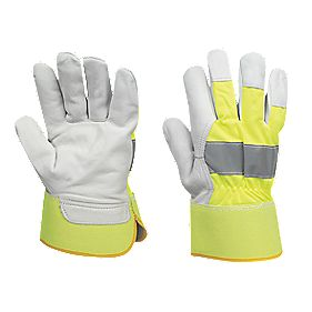 Reflective Rigger Gloves Yellow X Large