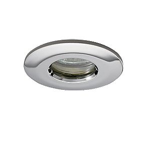 JCC Fireguard Fixed LV Fire Rated Recessed Shower Downlight Pol Chr 12V
