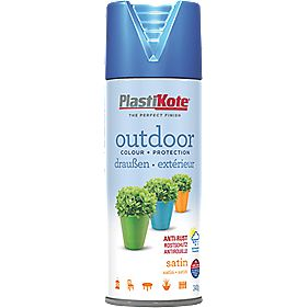 Plasti-Kote Outdoor Spray Paint Satin Rustic Blue 400ml