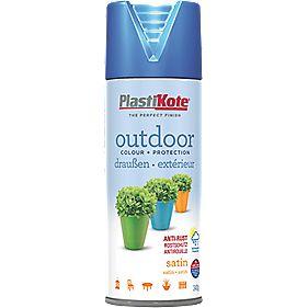 Plasti-Kote Outdoor Spray Paint Satin Rustic Blue 400ml