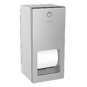 Franke Rodan Lockable Double Toilet Roll Holder Stainless Steel