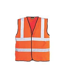 "Hi-Vis Waistcoat Orange X Large 48-50"" Chest"