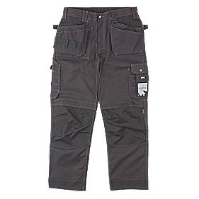 "Site Mastiff Work Trousers Black 40"" W 32"" L"